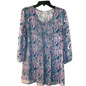 Kimchi Blue Peacock Feather Blouse